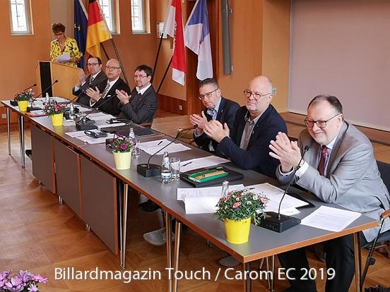 Vedení Evropské billiardové federace CEB